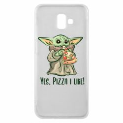 Чехол для Samsung J6 Plus 2018 Yoda and pizza