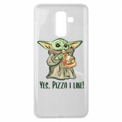 Чехол для Samsung J8 2018 Yoda and pizza