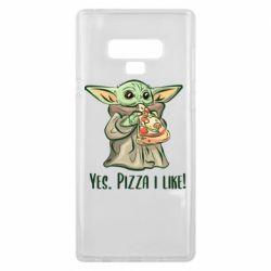 Чехол для Samsung Note 9 Yoda and pizza