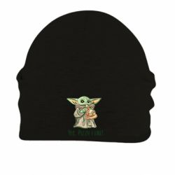 Шапка на флисе Yoda and pizza