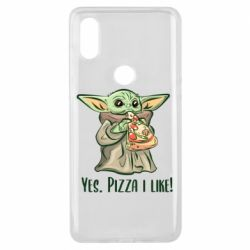 Чехол для Xiaomi Mi Mix 3 Yoda and pizza