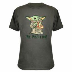 Камуфляжная футболка Yoda and pizza