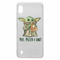 Чехол для Samsung A10 Yoda and pizza