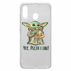 Чехол для Samsung A20 Yoda and pizza