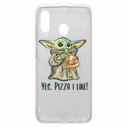 Чехол для Samsung A30 Yoda and pizza