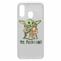 Чехол для Samsung A40 Yoda and pizza