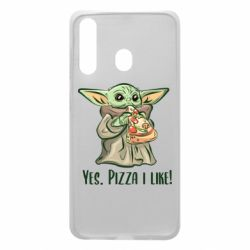 Чехол для Samsung A60 Yoda and pizza