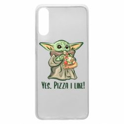 Чехол для Samsung A70 Yoda and pizza