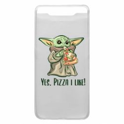 Чехол для Samsung A80 Yoda and pizza