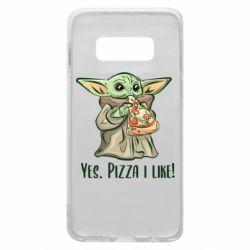 Чехол для Samsung S10e Yoda and pizza