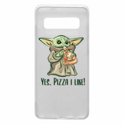 Чехол для Samsung S10 Yoda and pizza