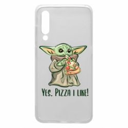 Чехол для Xiaomi Mi9 Yoda and pizza