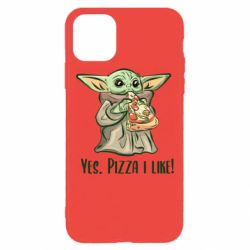Чехол для iPhone 11 Pro Max Yoda and pizza