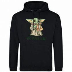Мужская толстовка Yoda and pizza