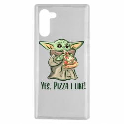 Чехол для Samsung Note 10 Yoda and pizza