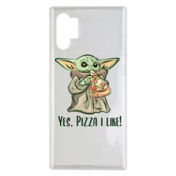 Чехол для Samsung Note 10 Plus Yoda and pizza