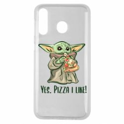 Чехол для Samsung M30 Yoda and pizza