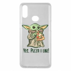 Чехол для Samsung A10s Yoda and pizza