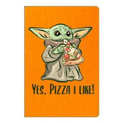 Блокнот А5 Yoda and pizza