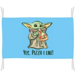 Флаг Yoda and pizza