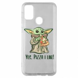 Чехол для Samsung M30s Yoda and pizza