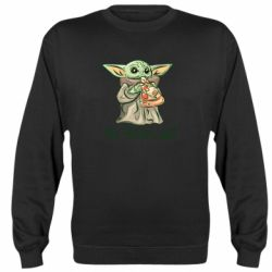 Реглан (свитшот) Yoda and pizza