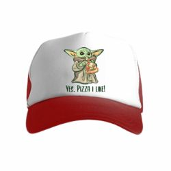 Детская кепка-тракер Yoda and pizza