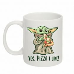 Кружка 320ml Yoda and pizza
