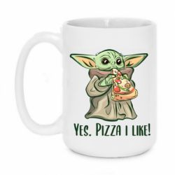 Кружка 420ml Yoda and pizza