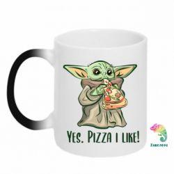 Кружка-хамелеон Yoda and pizza