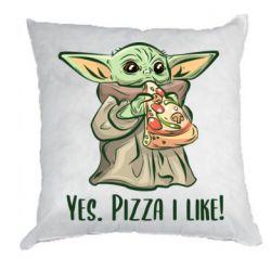 Подушка Yoda and pizza