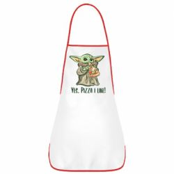Фартук Yoda and pizza