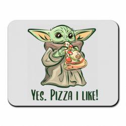 Коврик для мыши Yoda and pizza