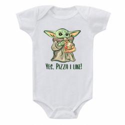 Детский бодик Yoda and pizza