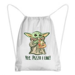 Рюкзак-мешок Yoda and pizza