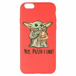 Чехол для iPhone 6 Plus/6S Plus Yoda and pizza