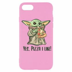 Чехол для iPhone 7 Yoda and pizza