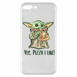 Чехол для iPhone 7 Plus Yoda and pizza