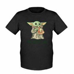 Детская футболка Yoda and pizza