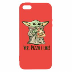 Чехол для iPhone5/5S/SE Yoda and pizza