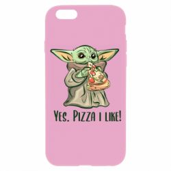 Чехол для iPhone 6/6S Yoda and pizza
