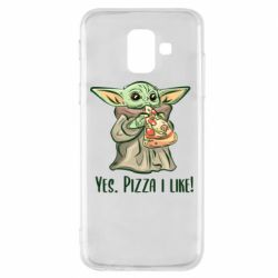 Чехол для Samsung A6 2018 Yoda and pizza