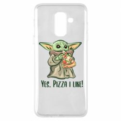 Чехол для Samsung A6+ 2018 Yoda and pizza