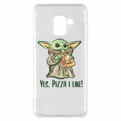Чехол для Samsung A8 2018 Yoda and pizza
