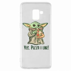 Чехол для Samsung A8+ 2018 Yoda and pizza