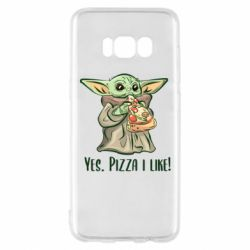 Чехол для Samsung S8 Yoda and pizza