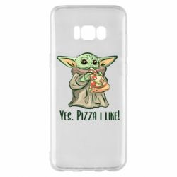 Чехол для Samsung S8+ Yoda and pizza