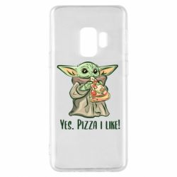 Чехол для Samsung S9 Yoda and pizza