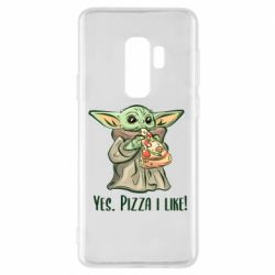 Чехол для Samsung S9+ Yoda and pizza