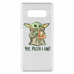 Чехол для Samsung Note 8 Yoda and pizza